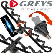 Greys Prodigy Push-Lok Rest System Quiver Rutenauflage fürs Feederangeln universal verstellbar!