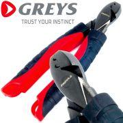 Greys Prowla 6 Crimping Pliers Quetschhülsenzange 16cm erzeugt 5 Quetschpunkte gummierter Soft Griff & Umhängeband
