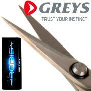 Greys Prodigy Braid Scissors Braid-Schere ideal für geflochtene Schnüre, Fluorocarbon, Kevlar, Schlagschnur & Hartmono