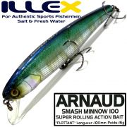 Illex Arnaud 100F Wobbler Floating 100mm 16g Farbe HL Hasu Design by Seiji Kato
