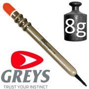 Greys Prodigy Rippla 1 Unloaded Waggler Pose Tragkraft 8g Wagglerpose ideal für flache Gewässer