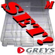 Greys Prowla Lure Box Medium Set Köderbox Größe Medium 27X18X4cm 2 Stück im Set Kunstköderresistent
