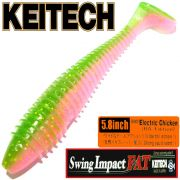 Keitech FAT Swing Impact 5.8 Gummifisch 14,5cm Electric Chicken BA-Edition 4 Stück im Set