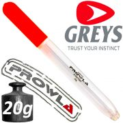 Greys Prowla In-Line Cigar Raubfischpose Köderfischpose Göße Medium mit 20g Tragkraft zum Hecht und Zanderangeln