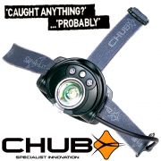 Chub SAT-A-LITE SL-250 Kopflampe mit CREE High Power LED 125lm Focus + 2 Roten LEDs für Nachtsicht