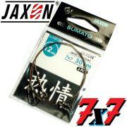 Jaxon Stahlvorfach Sumato 7X7 Strand Spin Snap + Wirbel Länge 20cm Tragkraft 12,0kg 2 Stück im Set