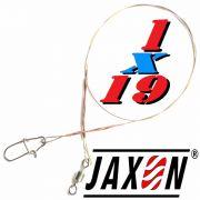 Jaxon Stahlvorfach Sumato 1X19 Strand Spin Snap + Wirbel Länge 20cm Tragkraft 8,0kg 2 Stück im Set
