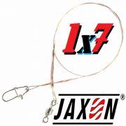 Jaxon Stahlvorfach Sumato 1X7 Strand Spin Snap + Wirbel Länge 20cm Tragkraft 6,0kg 2 Stück im Set