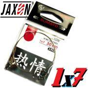 Jaxon Stahlvorfach Sumato 1X7 Strand Spin Snap + Wirbel Länge 20cm Tragkraft 9,0kg 2 Stück im Set