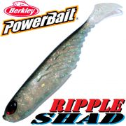 Berkley Power Bait Ripple Shad 3,5 Gummifisch 9cm Ghost Bleak