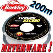 Berkley Fireline EXCEED Crystal geflochtene Angelschnur 0,10mm 5,9kg 200m Meterware!