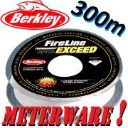 Berkley Fireline EXCEED Crystal geflochtene Angelschnur 0,10mm 5,9kg 300m Meterware!