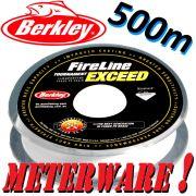 Berkley Fireline EXCEED Crystal geflochtene Angelschnur 0,10mm 5,9kg 500m Meterware!