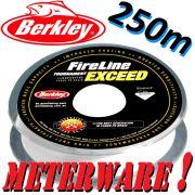 Berkley Fireline EXCEED Crystal geflochtene Angelschnur 0,10mm 5,9kg 250m Meterware!