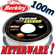 Berkley Fireline EXCEED Crystal geflochtene Angelschnur 0,10mm 5,9kg 100m Meterware!