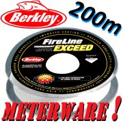 Berkley Fireline EXCEED Crystal geflochtene Angelschnur 0,20mm 13,2kg Crystal 200m Meterware!