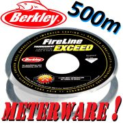 Berkley Fireline EXCEED Crystal geflochtene Angelschnur 0,20mm 13,2kg Crystal 500m Meterware!
