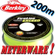 Berkley Fireline EXCEED Flame Green geflochtene Angelschnur 0,10mm 5,9kg 200m Meterware!