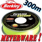 Berkley Fireline EXCEED Flame Green geflochtene Angelschnur 0,10mm 5,9kg 300m Meterware!