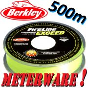Berkley Fireline EXCEED Flame Green geflochtene Angelschnur 0,10mm 5,9kg 500m Meterware!