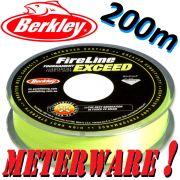 Berkley Fireline EXCEED Flame Green geflochtene Angelschnur 0,15mm 7,9kg 200m Meterware!