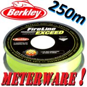 Berkley Fireline EXCEED Flame Green geflochtene Angelschnur 0,15mm 7,9kg 250m Meterware!