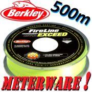 Berkley Fireline EXCEED Flame Green geflochtene Angelschnur 0,15mm 7,9kg 500m Meterware!
