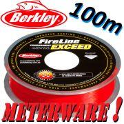Berkley Fireline EXCEED RED geflochtene Angelschnur 0,15mm 7,9kg 100m Meterware