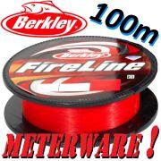 Berkley Fireline Fused Original RED geflochtene Angelschnur 0,25mm 17,5kg 100m Meterware