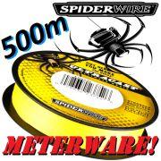 Spiderwire Ultrcast 8 Carrier Ultimate Braid HI-VIS Yellow in 0,12mm 9,1kg 500m Meterware