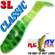 Relax Kopyto 3L Classic 3 Gummifisch 8cm Chartreuse Glitter Grün S Softbait