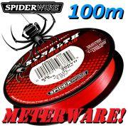 Spiederwire Stealth Code Red geflochtene Angelschnur 100m 10,2kg Farbe Rot Meterware