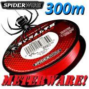 Spiederwire Stealth Code Red geflochtene Angelschnur 300m 10,2kg Farbe Rot Meterware
