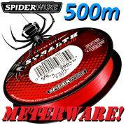Spiederwire Stealth Code Red geflochtene Angelschnur 500m 10,2kg Farbe Rot Meterware
