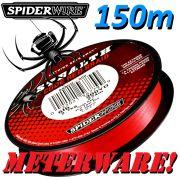 Spiederwire Stealth Code Red geflochtene Angelschnur 150m 10,2kg Farbe Rot Meterware