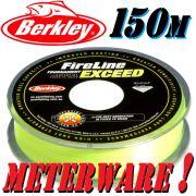 Berkley Fireline EXCEED Flame Green geflochtene Angelschnur 0,15mm 7,9kg 150m Meterware!