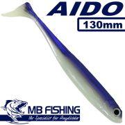 AIDO Shad von MB Fishing Gummifisch 130mm Farbe Fluoreszierend 3 Stück im Set Zanderköder