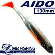 AIDO Shad von MB Fishing Gummifisch 130mm Farbe Rückenschwimmer II 3 Stück im Set Zanderköder