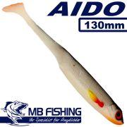 AIDO Shad von MB Fishing Gummifisch 130mm Farbe Crazy Roach 3 Stück im Set Zanderköder