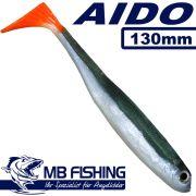 AIDO Shad von MB Fishing Gummifisch 130mm Farbe Rotauge 3 Stück im Set Zanderköder