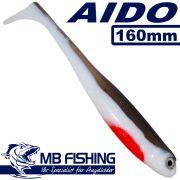 AIDO Shad von MB Fishing Gummifisch 160mm Farbe Crazy Roach Alt 5 Stück im Set Zanderköder