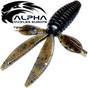 Alpha Tackles A-Factor Flat Crawdad 3,75 Dark Pumpkin Glitter 1 Stück Drop Shot & Finesse