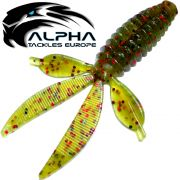 Alpha Tackles A-Factor Flat Crawdad 3,75 Watermelon Red Glitter 1 Stück Drop Shot & Finesse