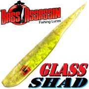 Bass Assassin Glass Shad Pin-Tailshad Farbe Glass Chartreuse 6 Shads im Set Winterköder für Zander