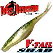 Bass Assassin Shad 4 V-Tailshad ca. 10cm Farbe Baby Bass 8 Stück im Set Barsch & Zanderköder