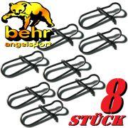 Behr Spezialkarabiner Gr.10 Spin Snap Tragkraft 12kg Farbe Black Nickel 8 Stück