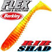 Berkley Flex Rib Shad 3,5 9cm Gummifisch Firetiger 1 Stück