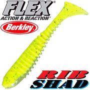 Berkley Flex Rib Shad 3,5 9cm Gummifisch Lime 1 Stück