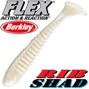 Berkley Flex Rib Shad 3,5 9cm Gummifisch Pearl 1 Stück