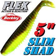 Berkley Flex Slim Shad 5 Gummifisch 12,5cm Breen Chartreuse 2 Stück im Set!
